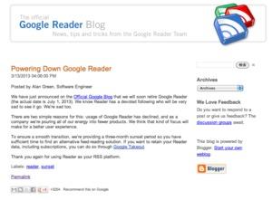 Google リーダー終了宣言、ユーザーに衝撃走る 「嘘だろ?」「毎日使ってたのに」