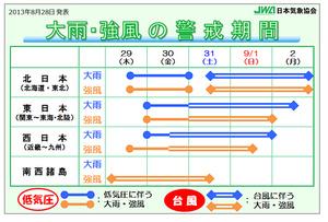 """台風15号が日本列島を縦断する恐れ """"これまで経験したことのないような大雨""""も"""