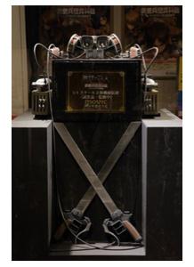 """「進撃の巨人」立体機動装置などを展示する""""調査兵団資料館""""が大阪に コスプレ入場可"""