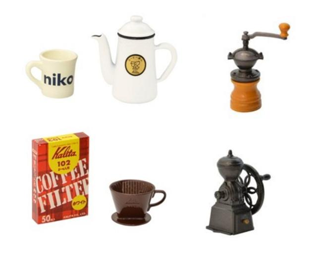 老舗コーヒー器具メーカーのポットやミルがカプセルトイに niko and ...とコラボの画像