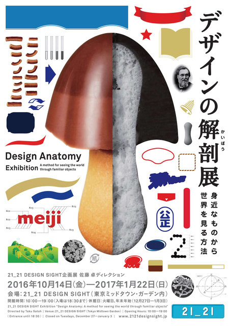 きのこの山を解剖すると、何が見える? 「デザインの解剖展」10/14から21_21 DESIGN SIGHTで
