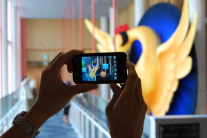 """『セカイカメラ』体験レポート 京都国際マンガミュージアムの特大""""火の鳥""""を覗いてきた"""